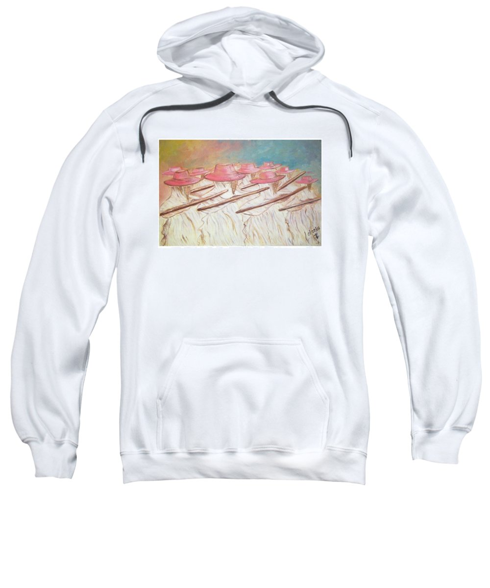 Abstract Sweatshirt featuring the painting Eyo Festival by Olaoluwa Smith