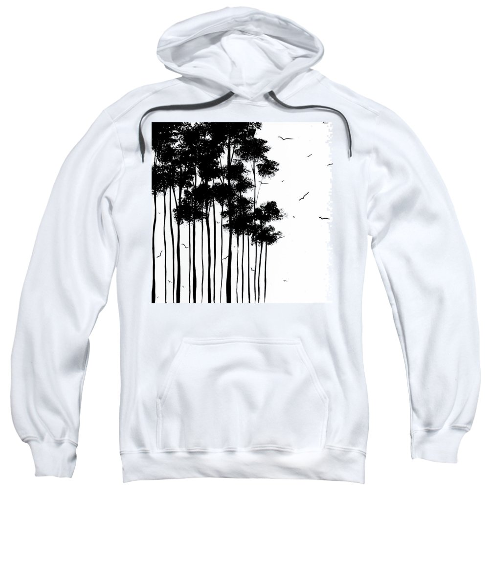 Painting Sweatshirt featuring the painting Falls Design 1 by Megan Duncanson