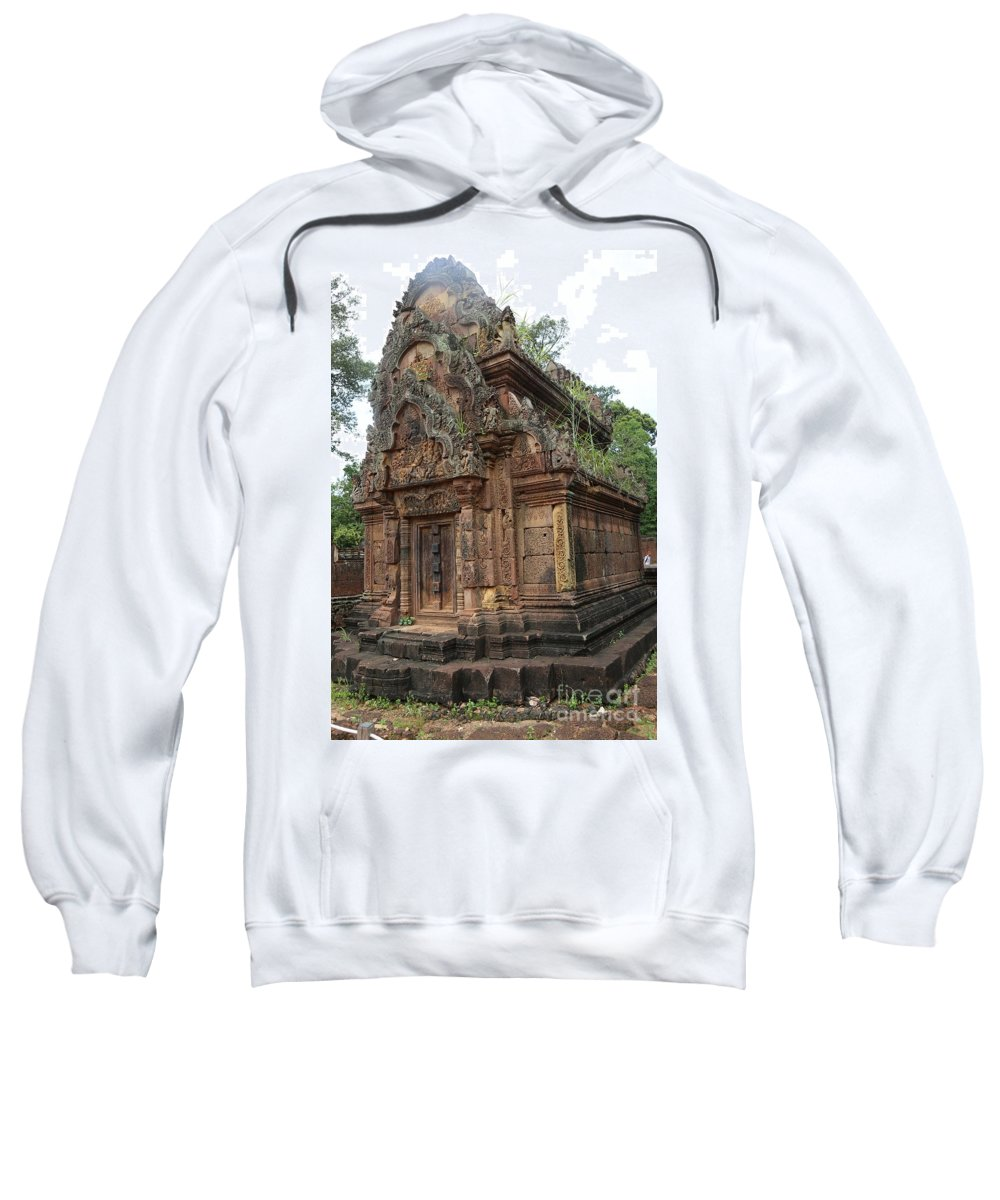 Siem Reap Sweatshirt featuring the photograph Famous Temple Banteay Srei Cambodia Asia by Chuck Kuhn