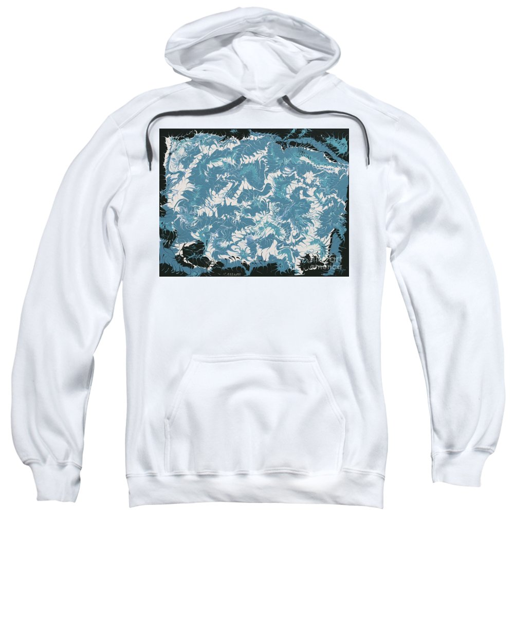 Keith Elliott Sweatshirt featuring the painting Fantastical - V1sh100 by Keith Elliott