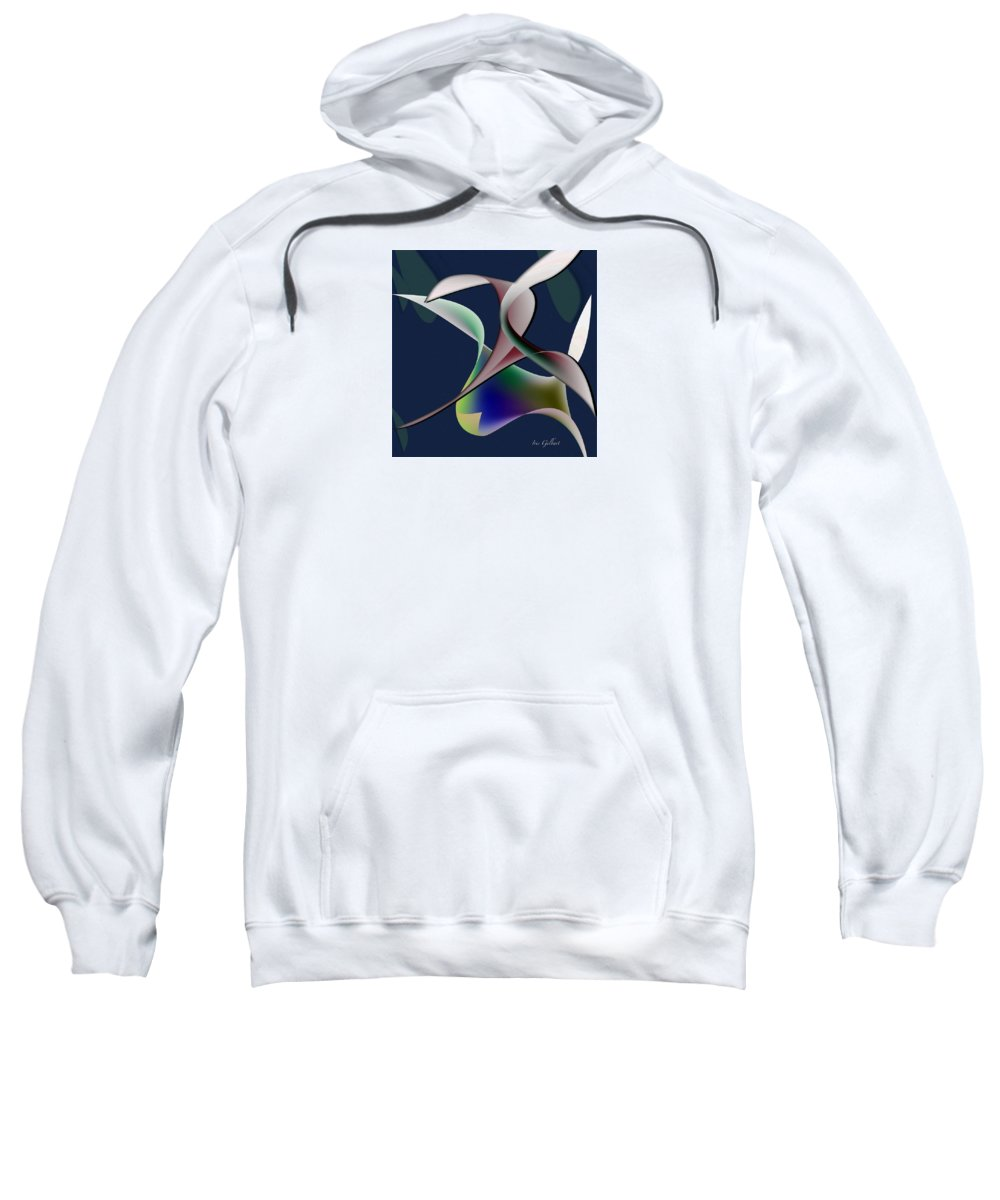Abstract Sweatshirt featuring the digital art Fascination 2 by Iris Gelbart