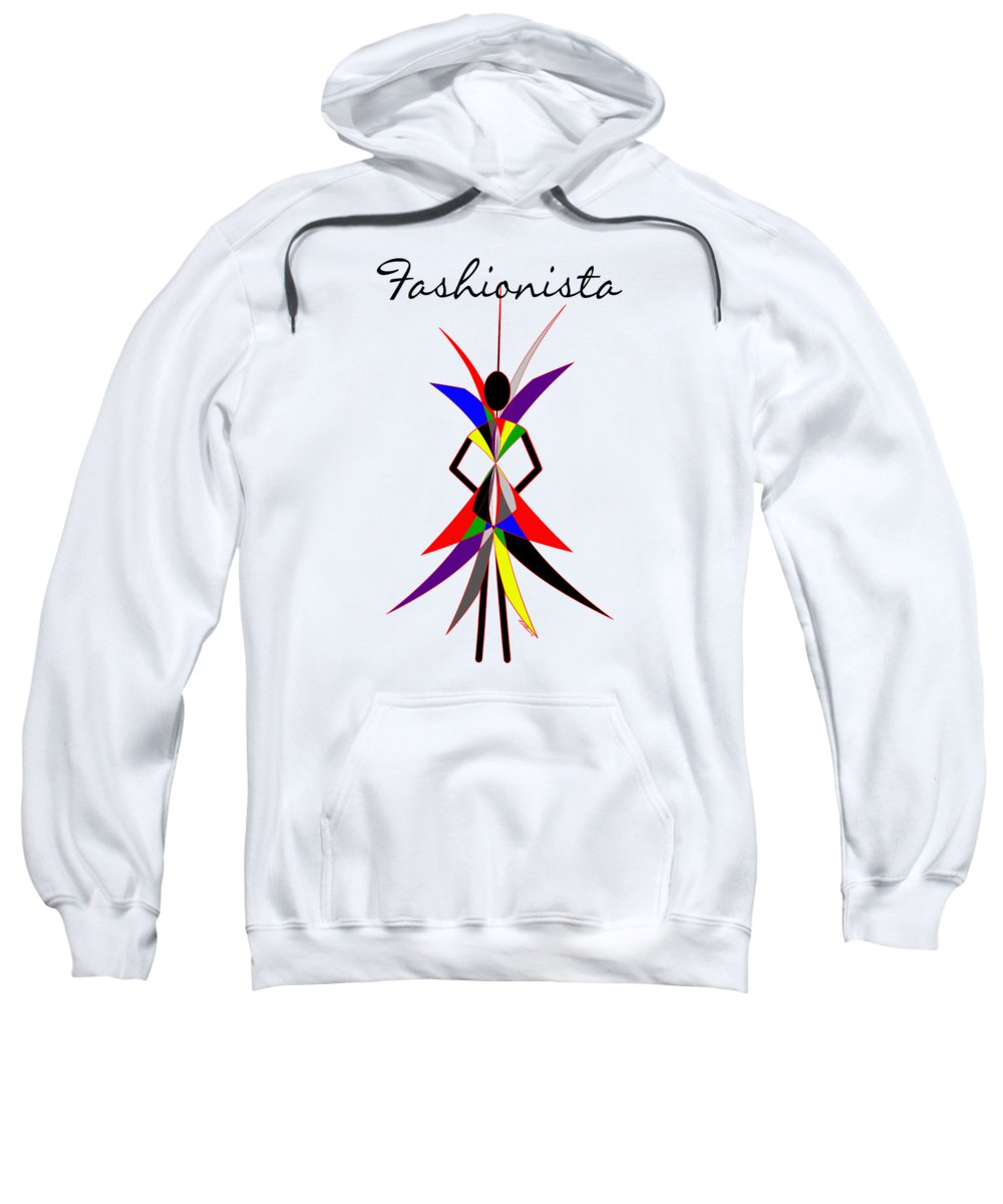 Fashionista Sweatshirt featuring the digital art Fashionista by Methune Hively