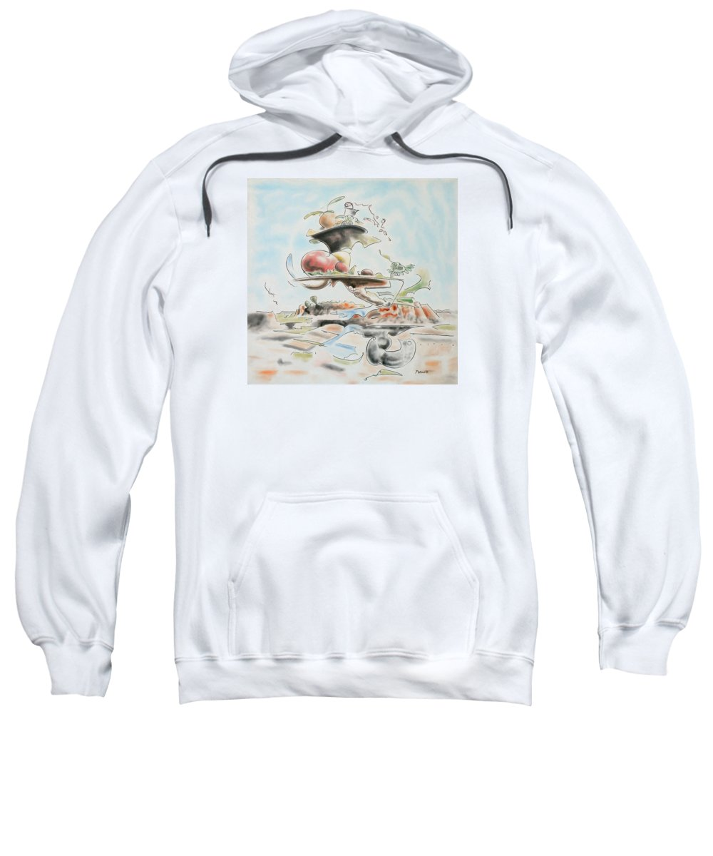 Abstract Sweatshirt featuring the painting Fast Food by Dave Martsolf