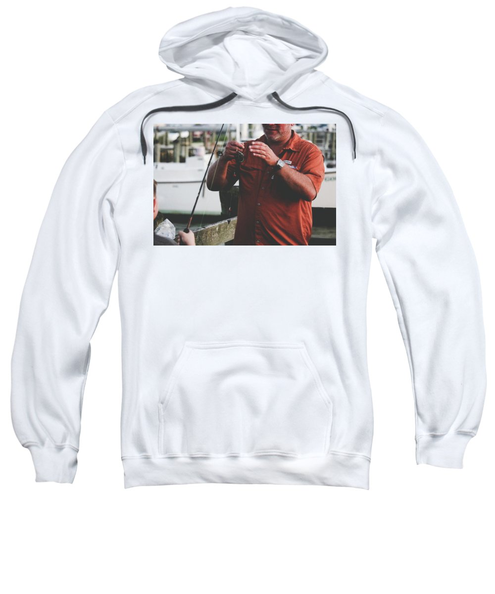 Father Sweatshirt featuring the photograph Father Son Time by Matthew Payne
