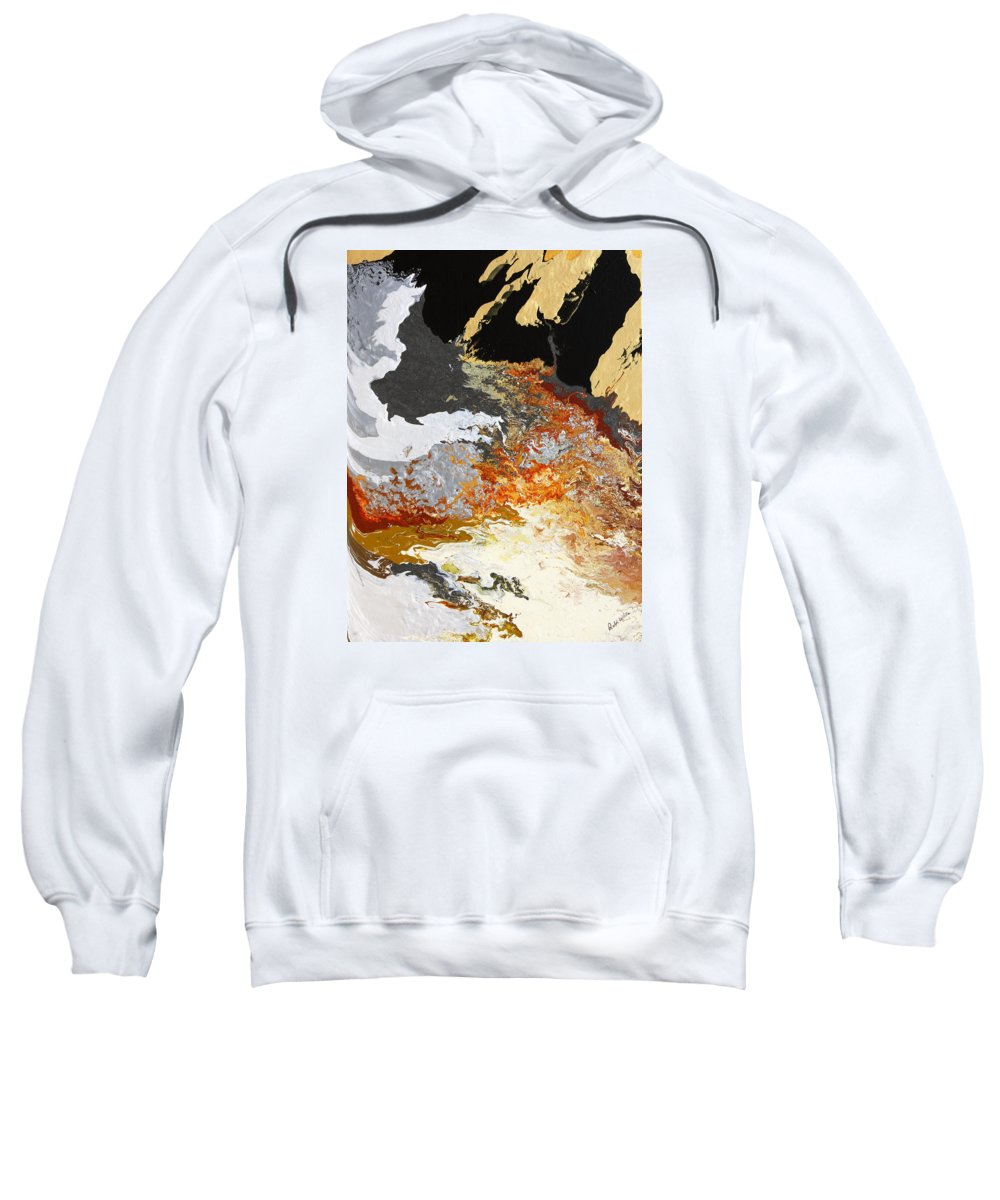 Fusionart Sweatshirt featuring the painting Fathom by Ralph White