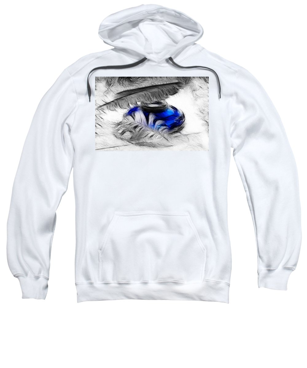 Pen Sweatshirt featuring the photograph Featherlight by Manfred Lutzius