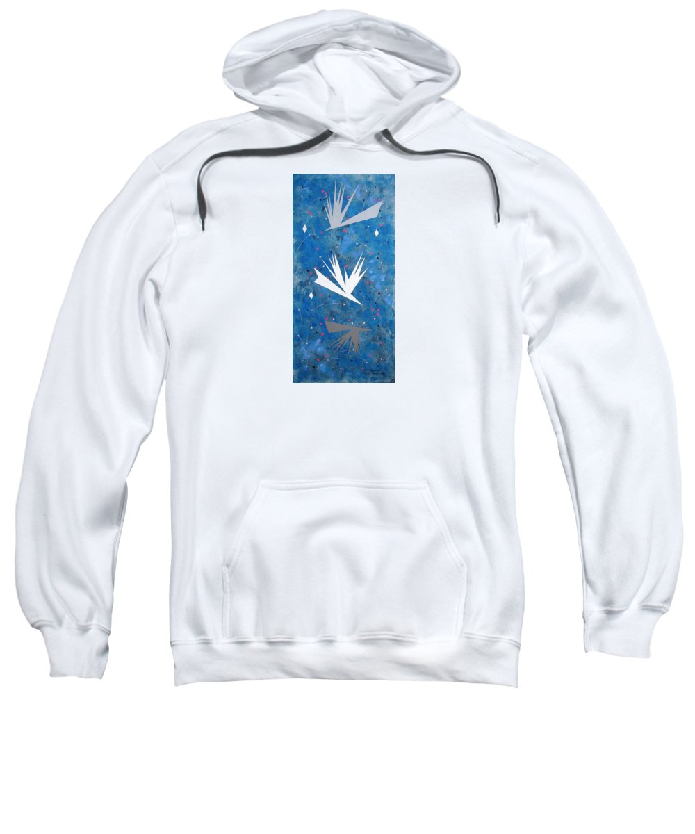 Birds And Diamond Stars Sweatshirt featuring the painting Feeding Frenzy by J R Seymour