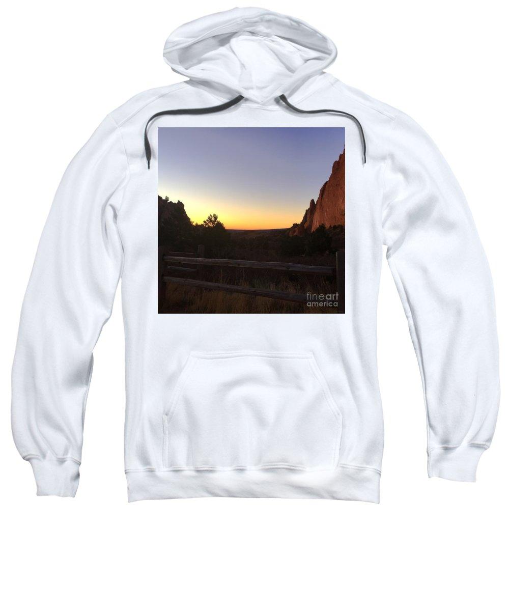 Garden Of The Gods Sweatshirt featuring the photograph Garden Sunrise by M Welch