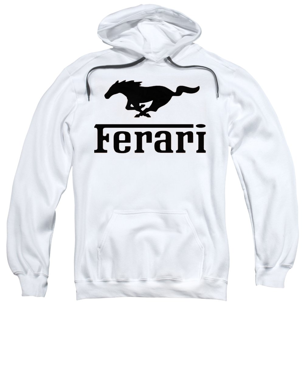 Ferrari Sweatshirt featuring the digital art Ferari by Kesha Ursula