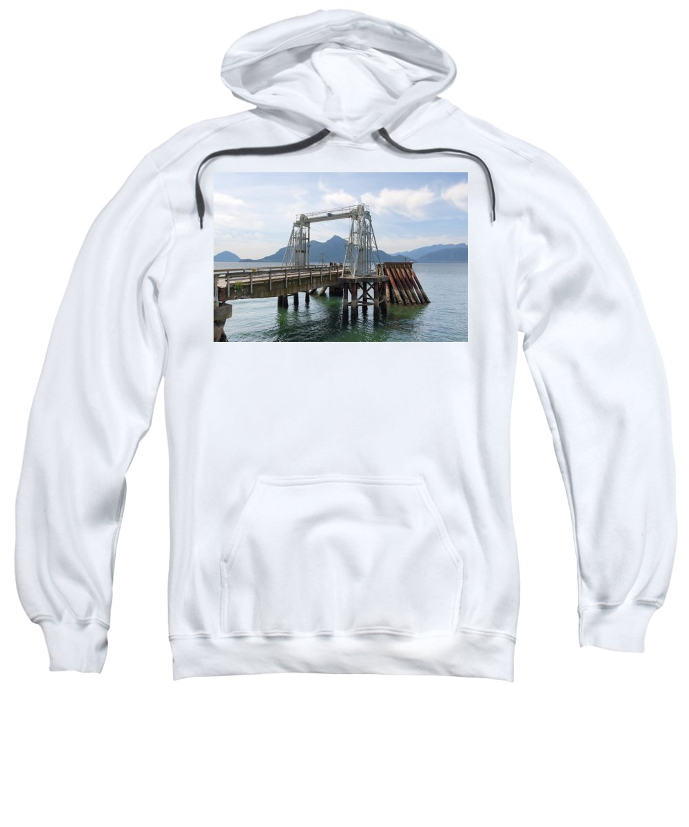 Ferry Dock Sweatshirt featuring the photograph Ferry Dock And Pier At Porteau Cove by Jit Lim