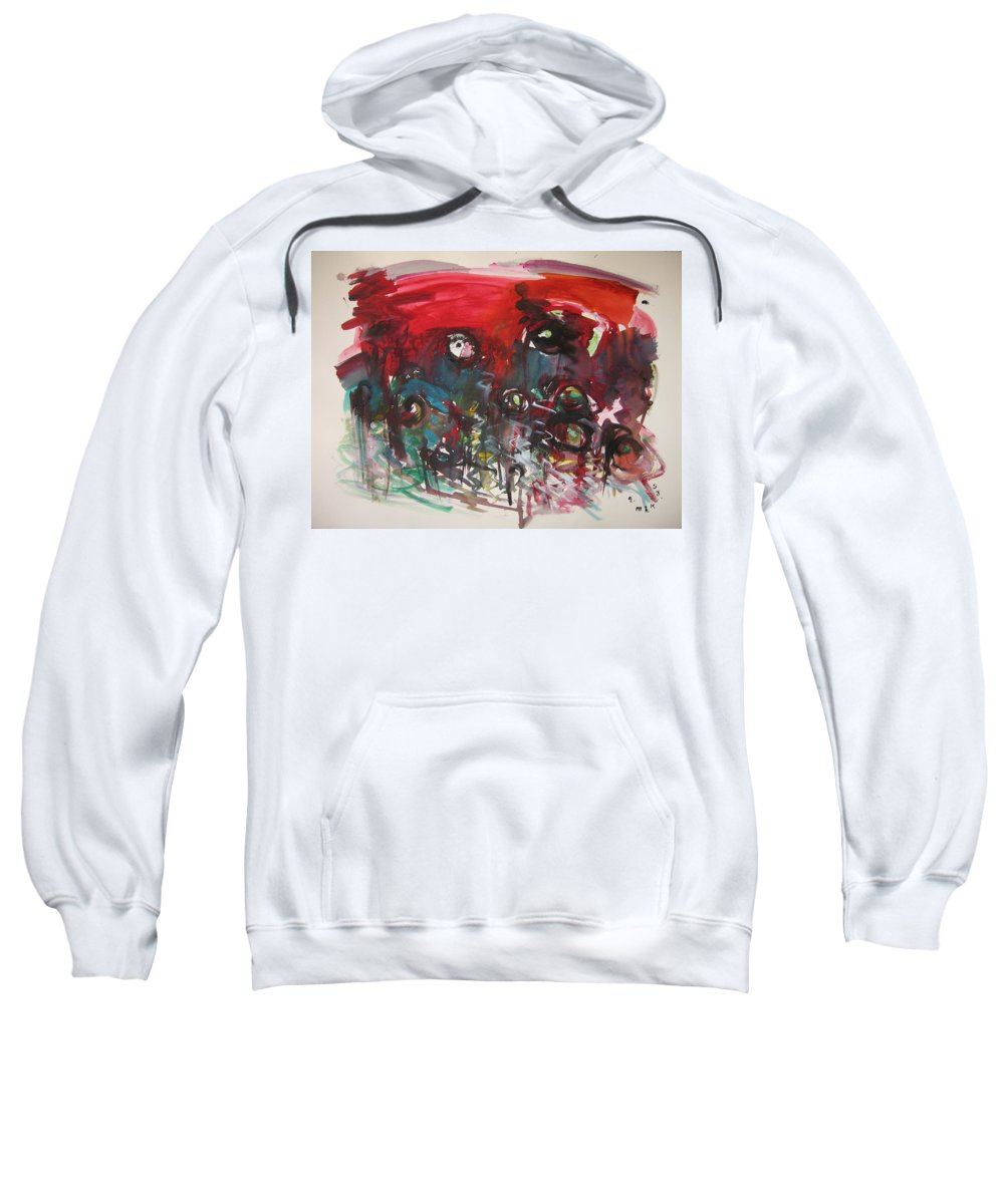 Fiddleheads Paintings Sweatshirt featuring the painting Fiddlesheads108 by Seon-Jeong Kim