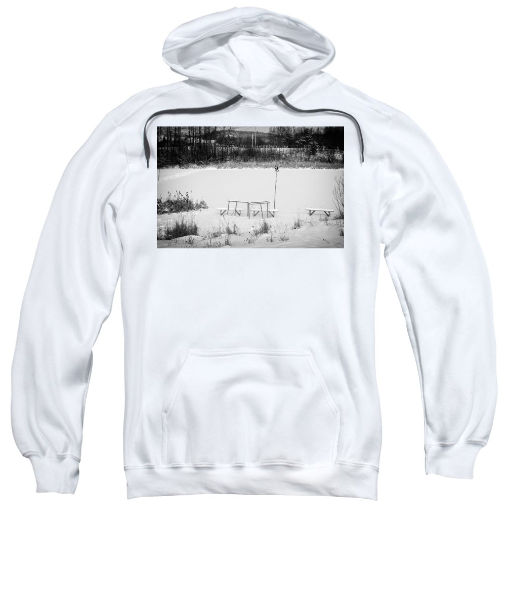 Hockey Sweatshirt featuring the photograph Field Of Dreams by Doug Gibbons