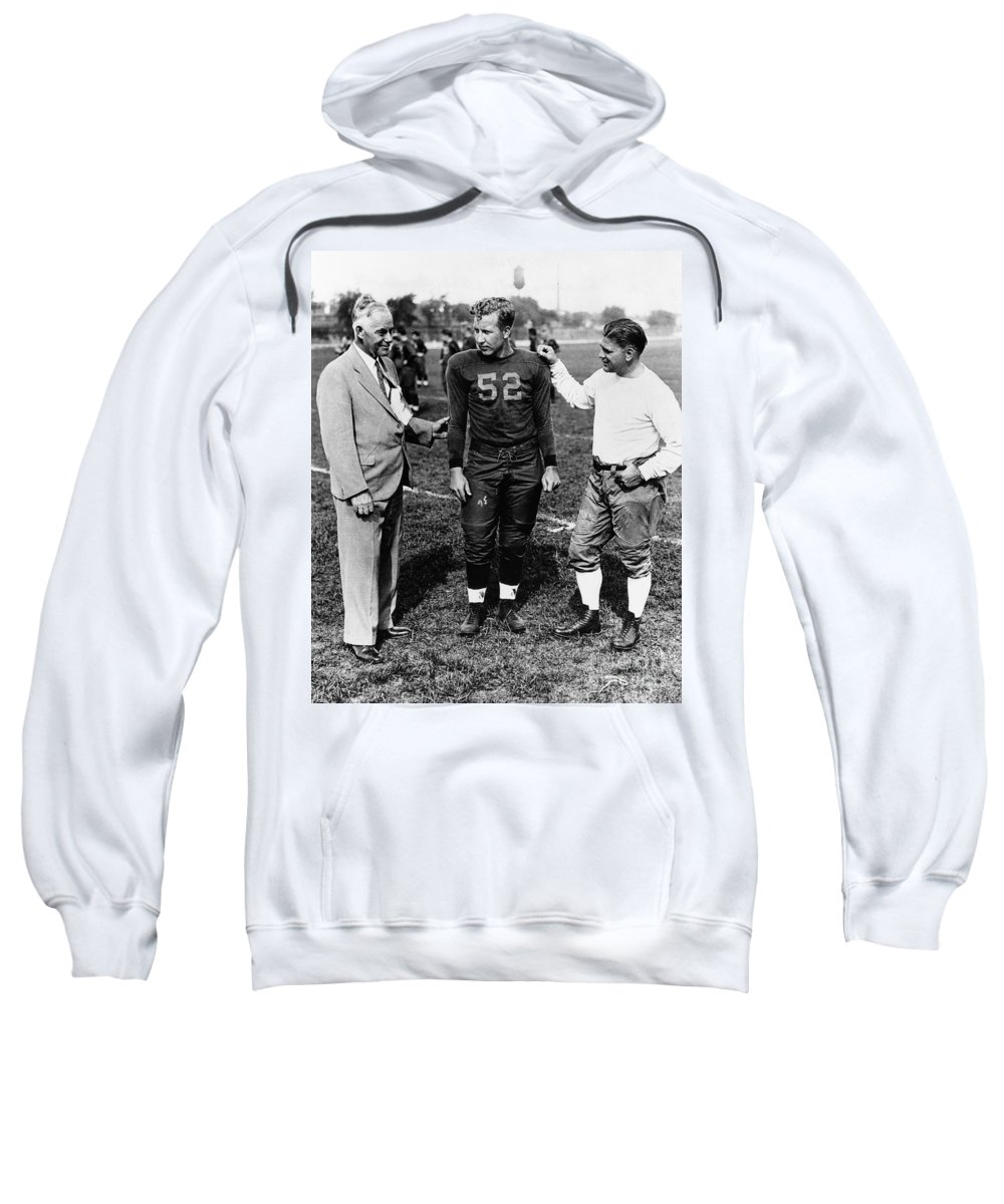 1934 Sweatshirt featuring the photograph Fielding Yost by Granger