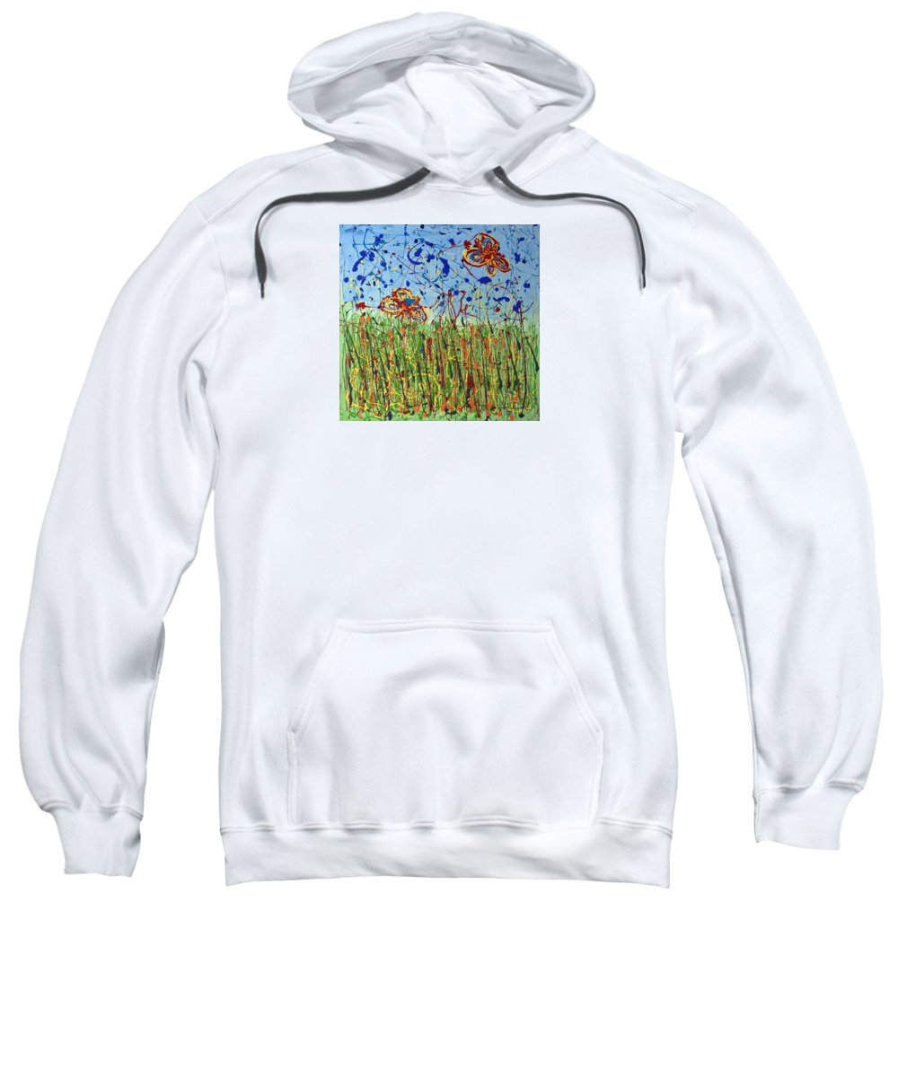 Painting Sweatshirt featuring the painting Fields Of Tall Grass by J R Seymour