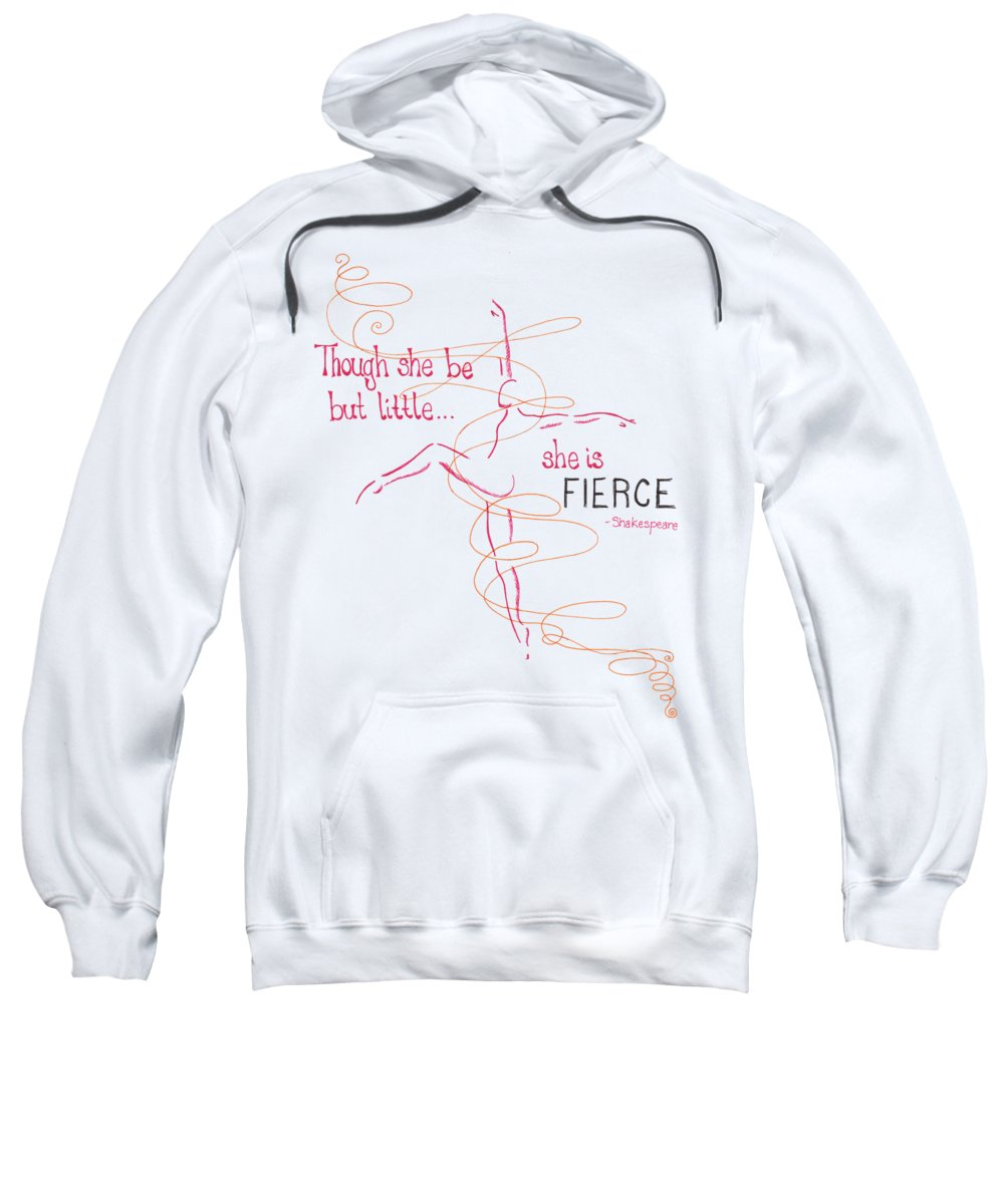 Dance Sweatshirt featuring the drawing Fierce by Emily Page