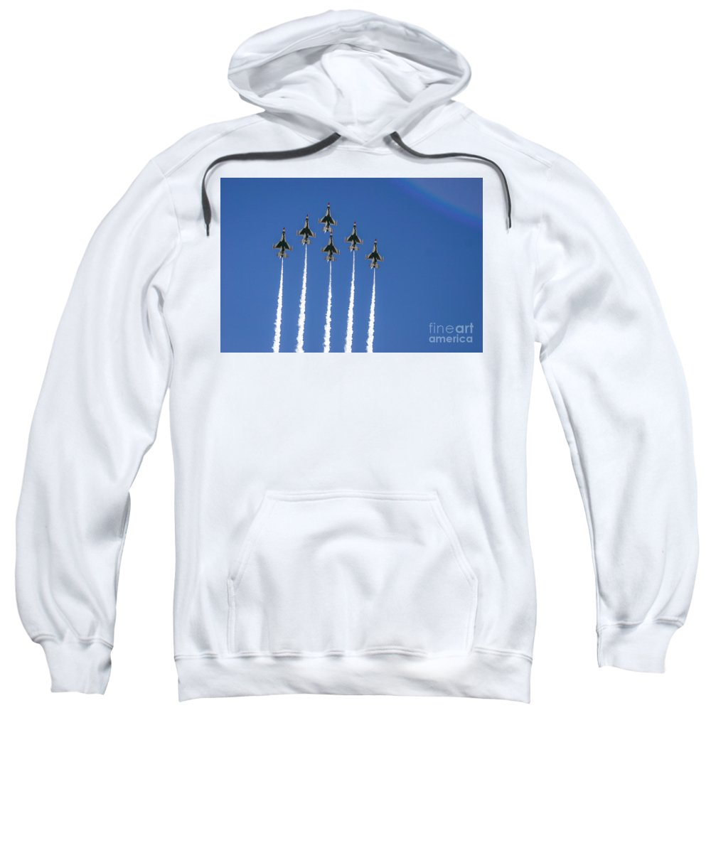 Air Force Sweatshirt featuring the photograph Fighter Attack by Chandra Nyleen