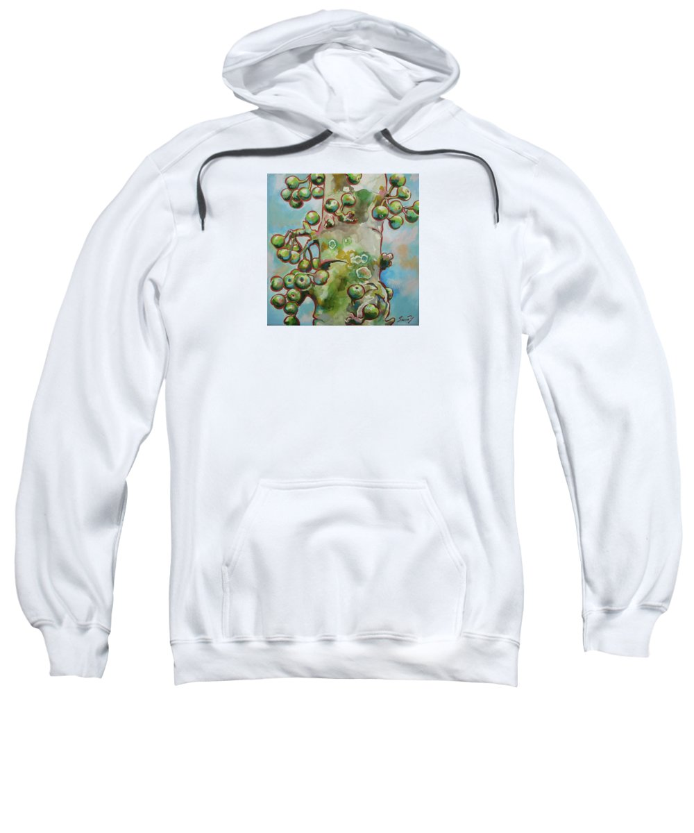 Figs Sweatshirt featuring the painting Figs3 by Sanae Yamada