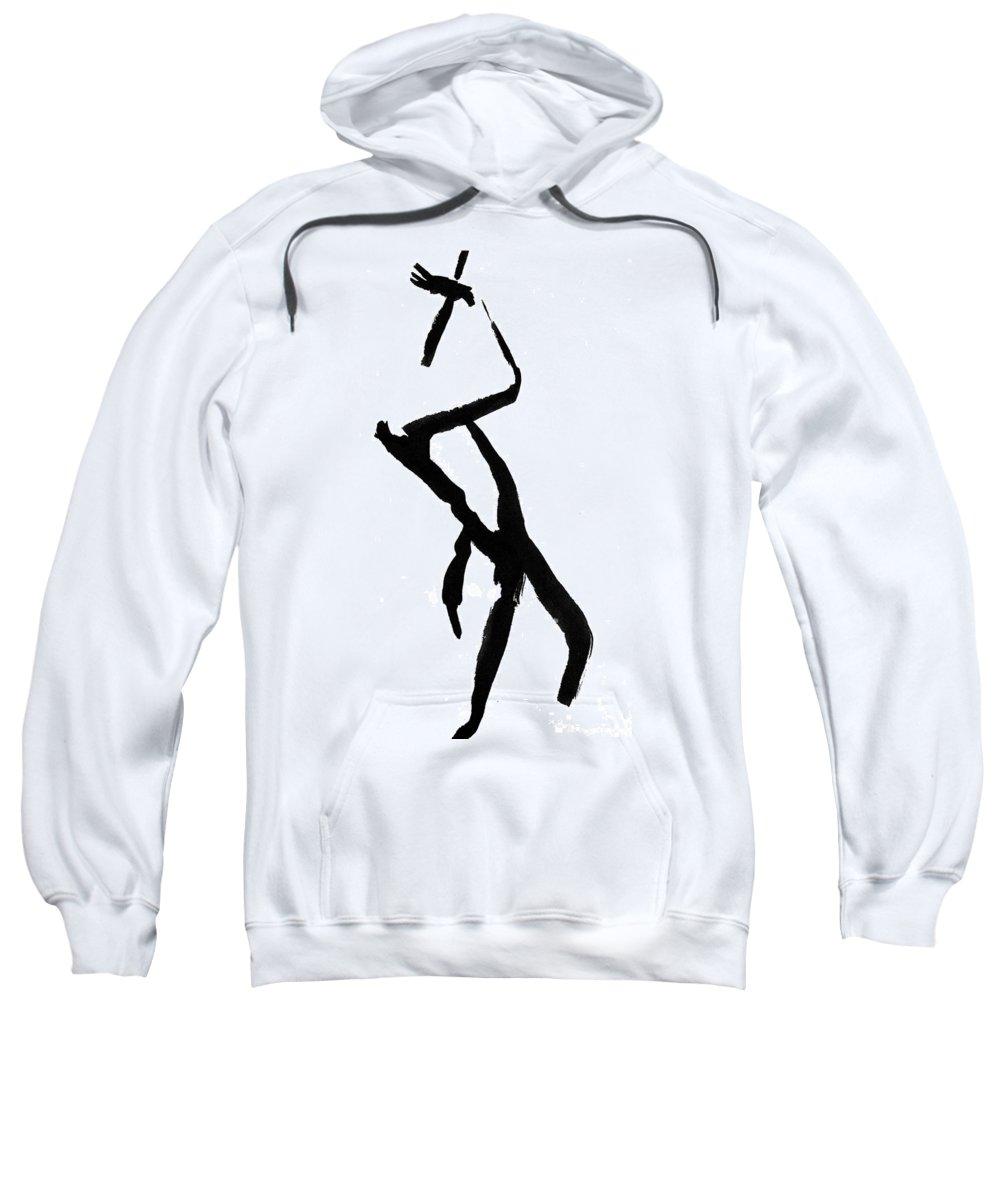 Silhouette Sweatshirt featuring the drawing Figure Silhouette by Nancy Mueller