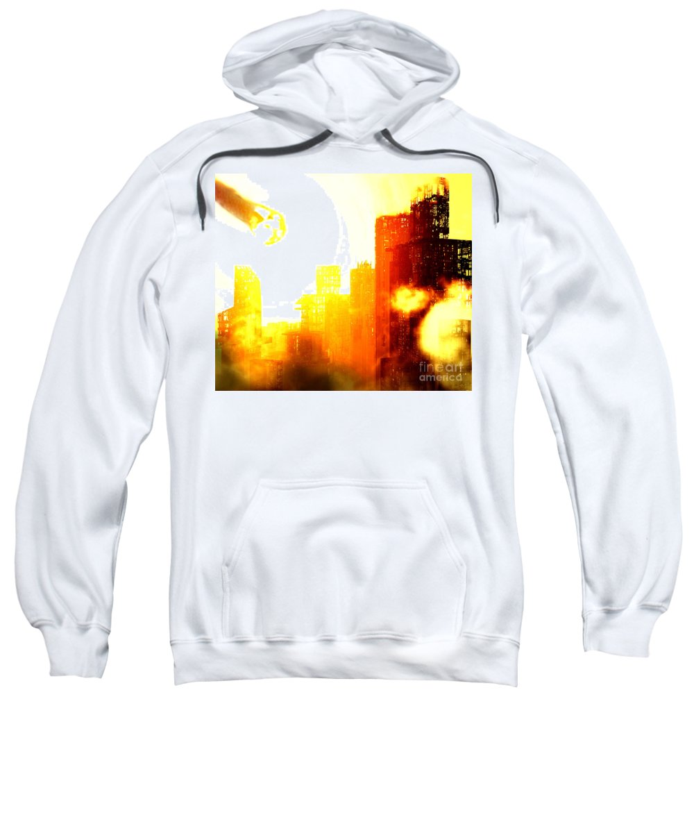 Meteor Showe Sweatshirt featuring the digital art Final Strike by Richard Rizzo