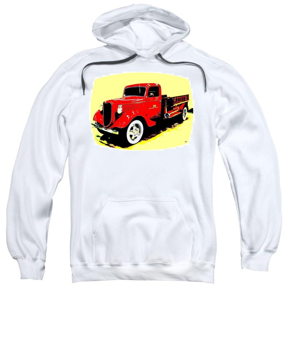 Fire Engine Sweatshirt featuring the digital art Fire Engine Ok by Will Borden