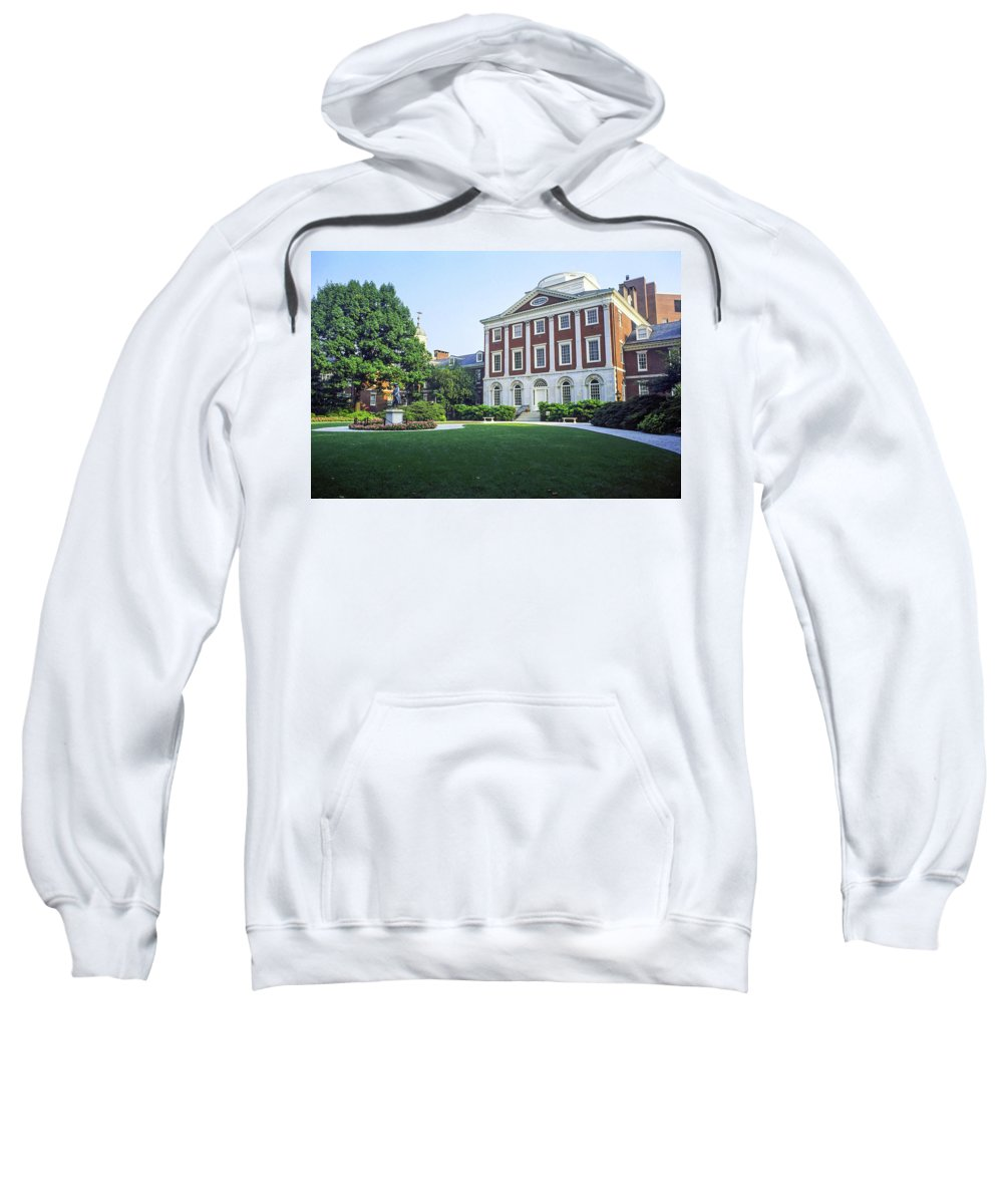 Pennsylvania Hospital Sweatshirt featuring the photograph First Us Hospital by Sally Weigand