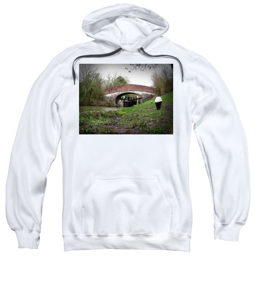 Rural Sweatshirt featuring the photograph Fisheye Bridge by Francesca Morini