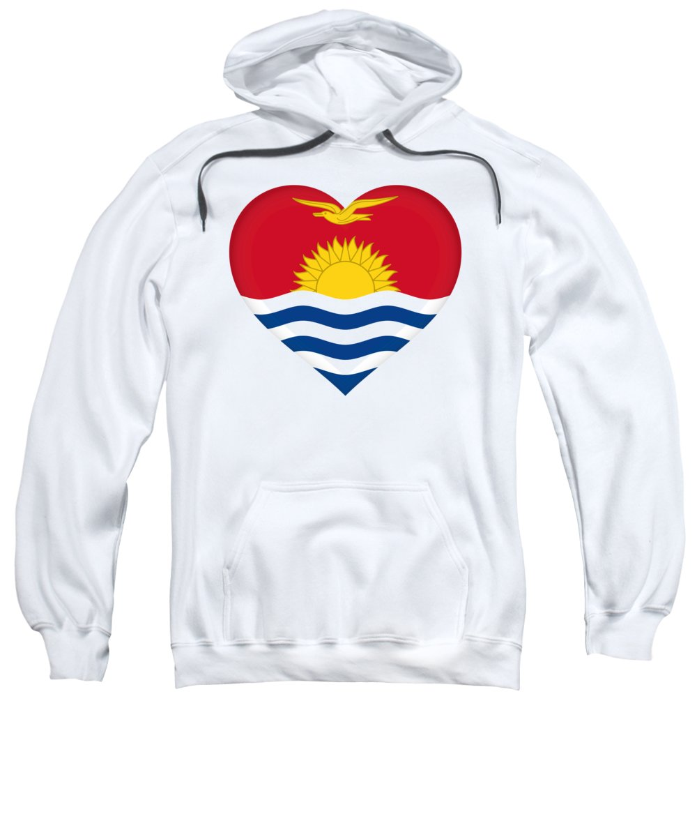 Kiribati Sweatshirt featuring the digital art Flag Of Kiribati Heart by Roy Pedersen