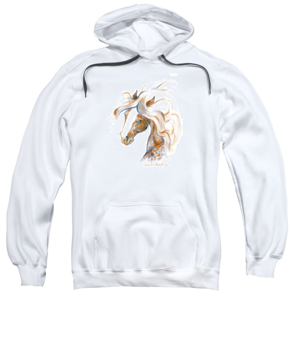 Mary Ogden Armstrong Sweatshirt featuring the painting Flair by Mary Armstrong