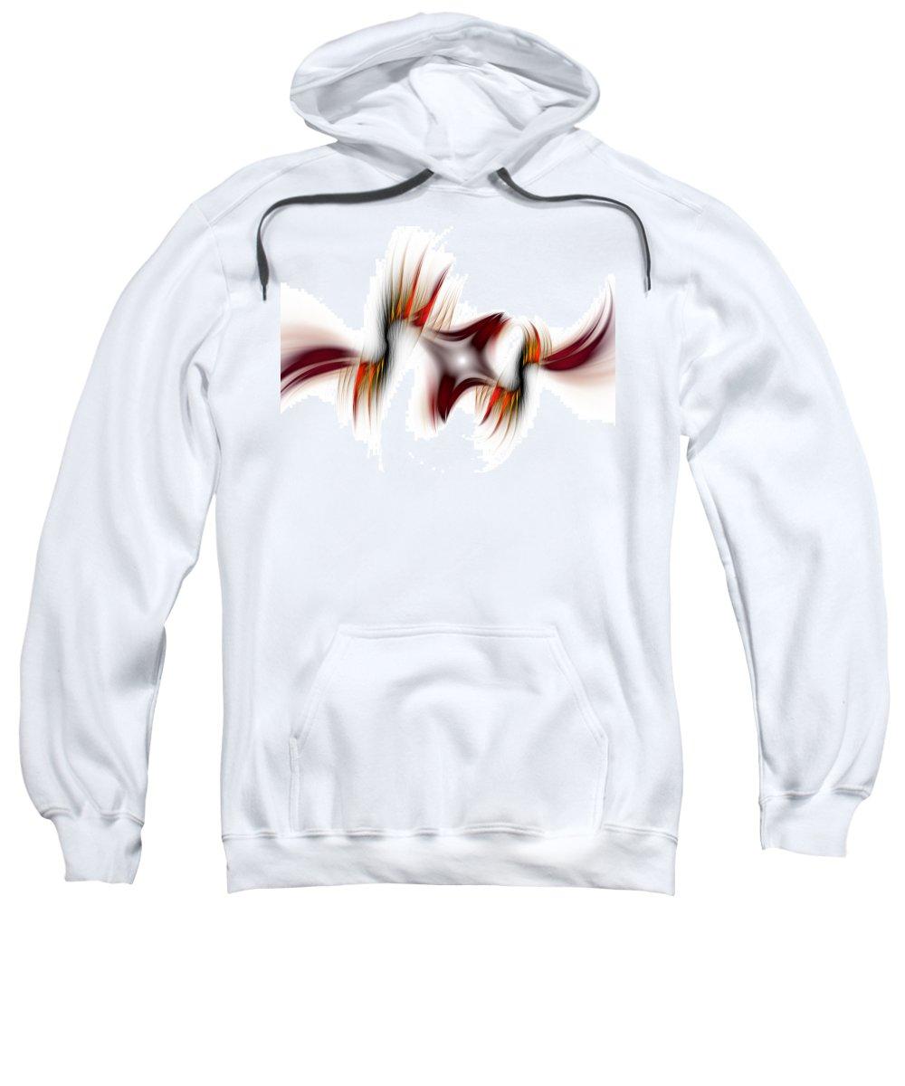 Abstract Sweatshirt featuring the digital art Flamme Flamme by Georgiana Romanovna
