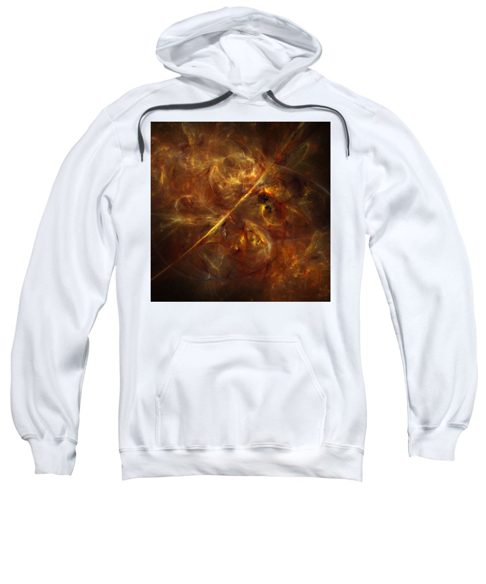 Space Sweatshirt featuring the digital art Flare by Ivan Kendrick