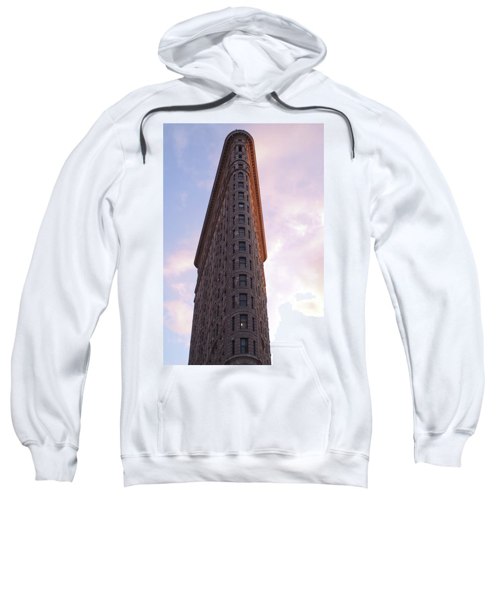 Flatiron Sweatshirt featuring the photograph Flat Iron Building by Henri Irizarri