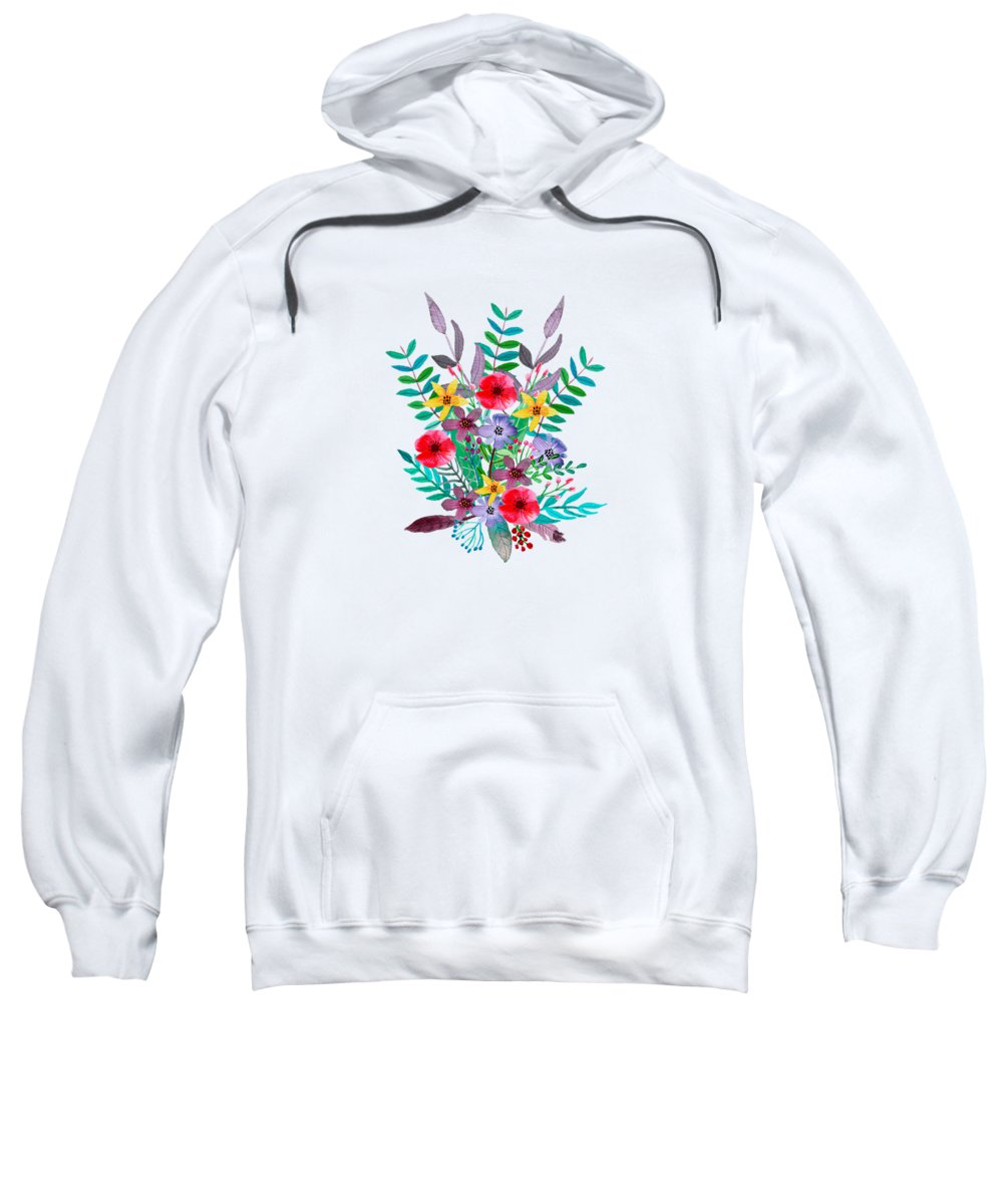 Flowers Hooded Sweatshirts T-Shirts