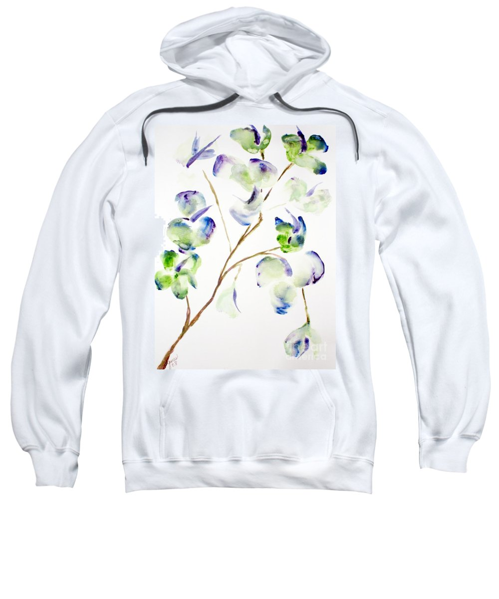 Flower Sweatshirt featuring the painting Flower by Shelley Jones