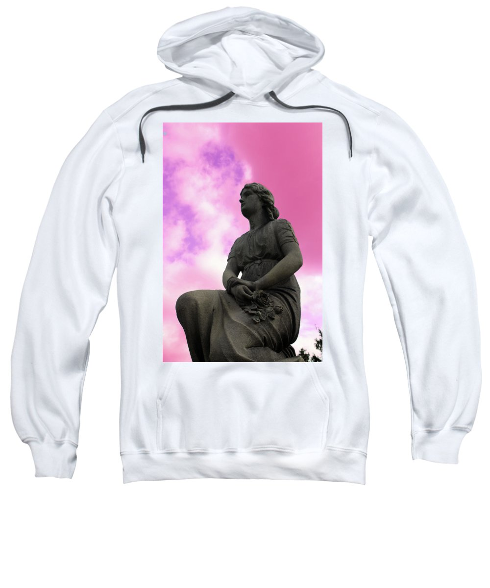 Statue Sweatshirt featuring the photograph Flowers For Peace by Erin Rosenblum