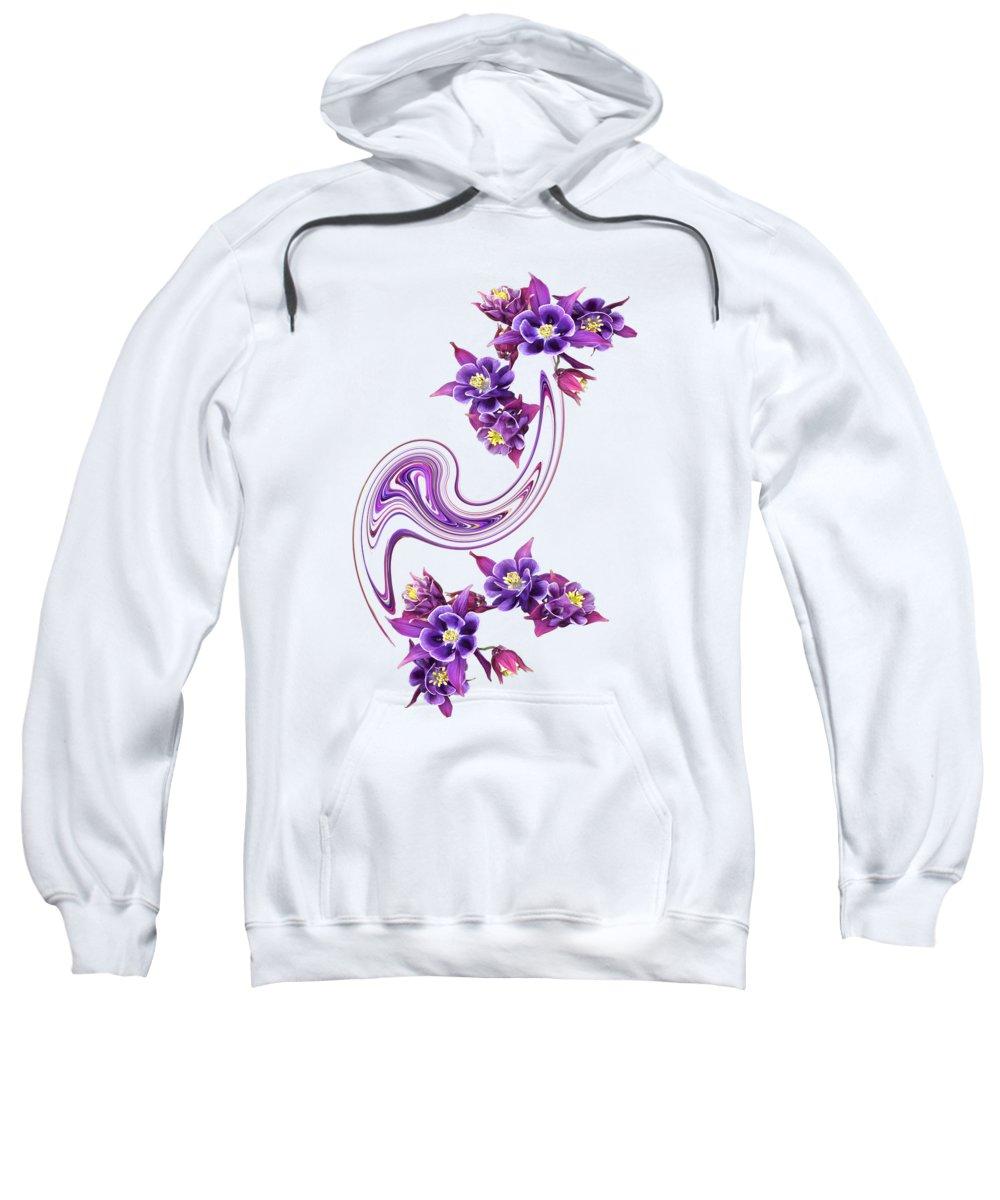 Purple Flower Sweatshirt featuring the photograph Flowing Purple Velvet 2 by Gill Billington