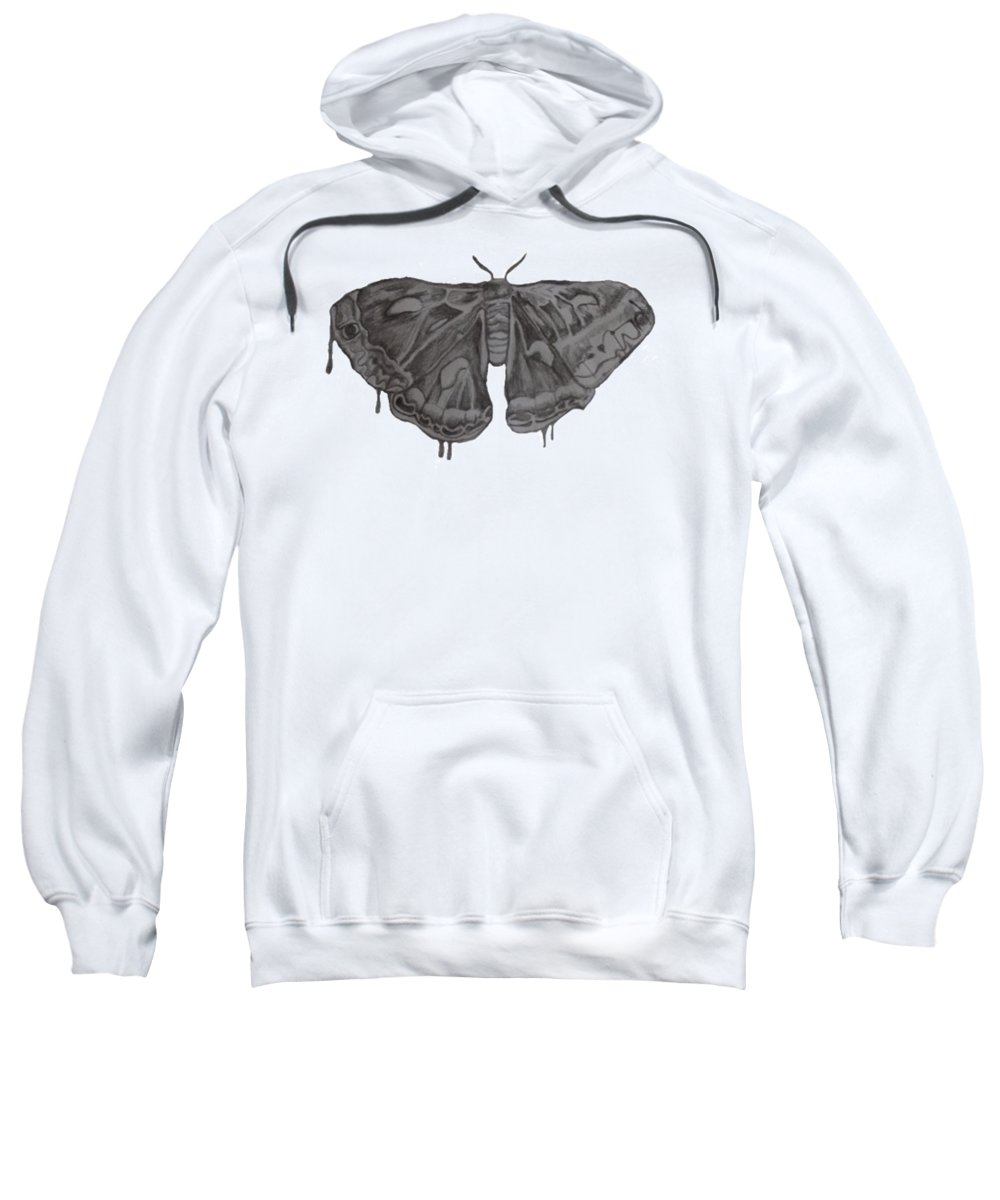 Drawing Sweatshirt featuring the drawing Flutter by Emily Brookes