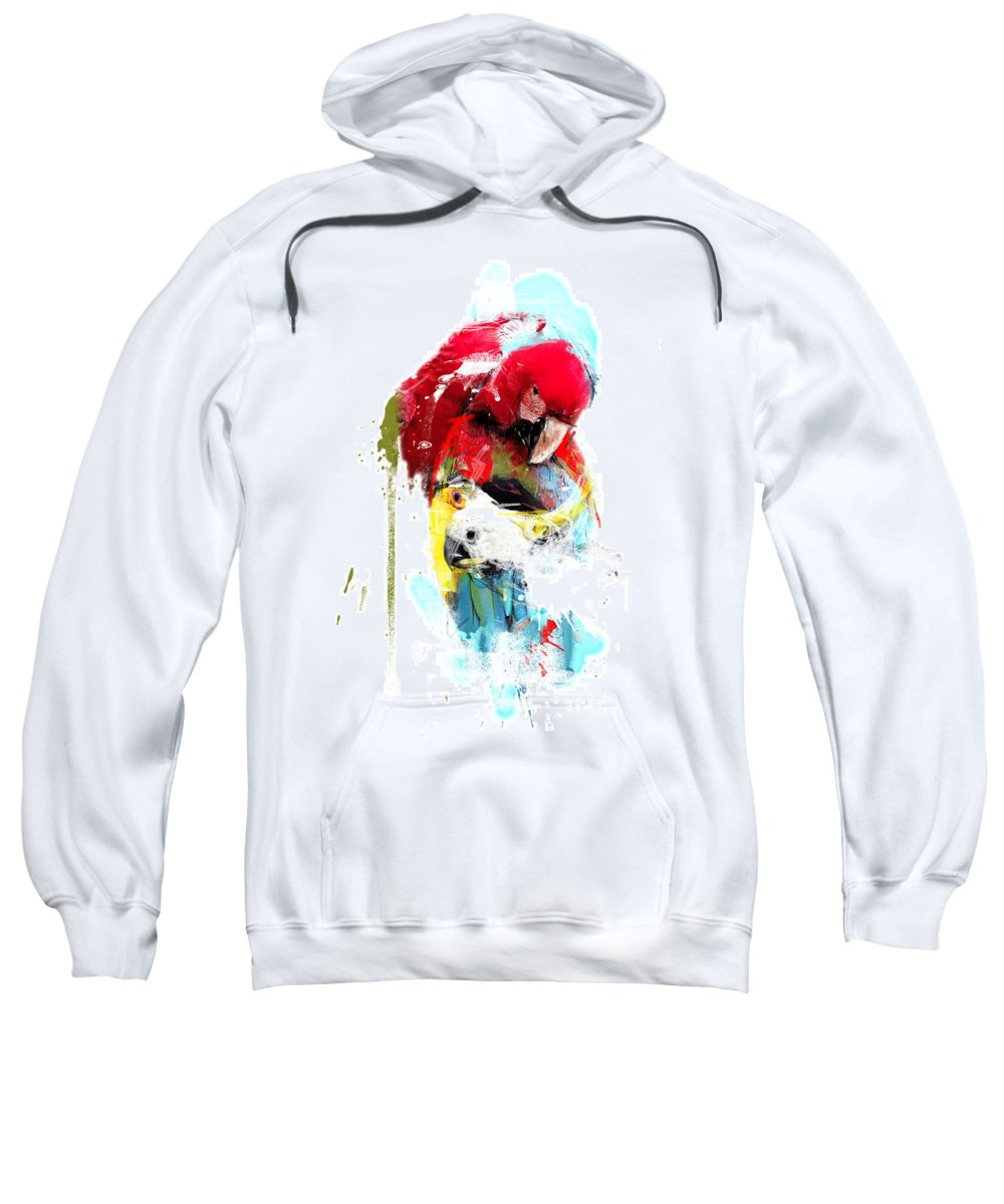 Parrot Sweatshirt featuring the photograph Flying Colors by Dray Van Beeck