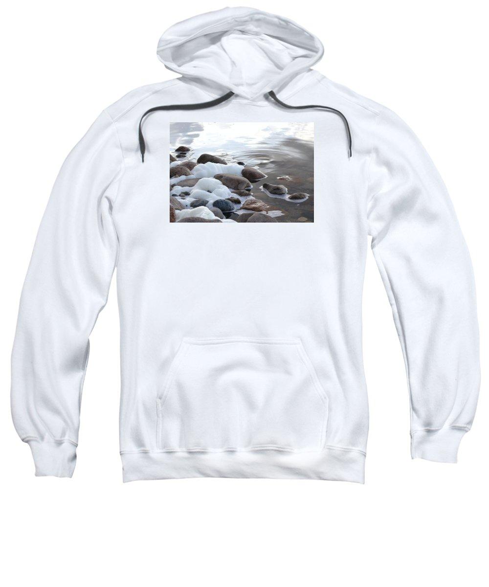 Foam Sweatshirt featuring the photograph Foamy Rocks by Nicole Frederick