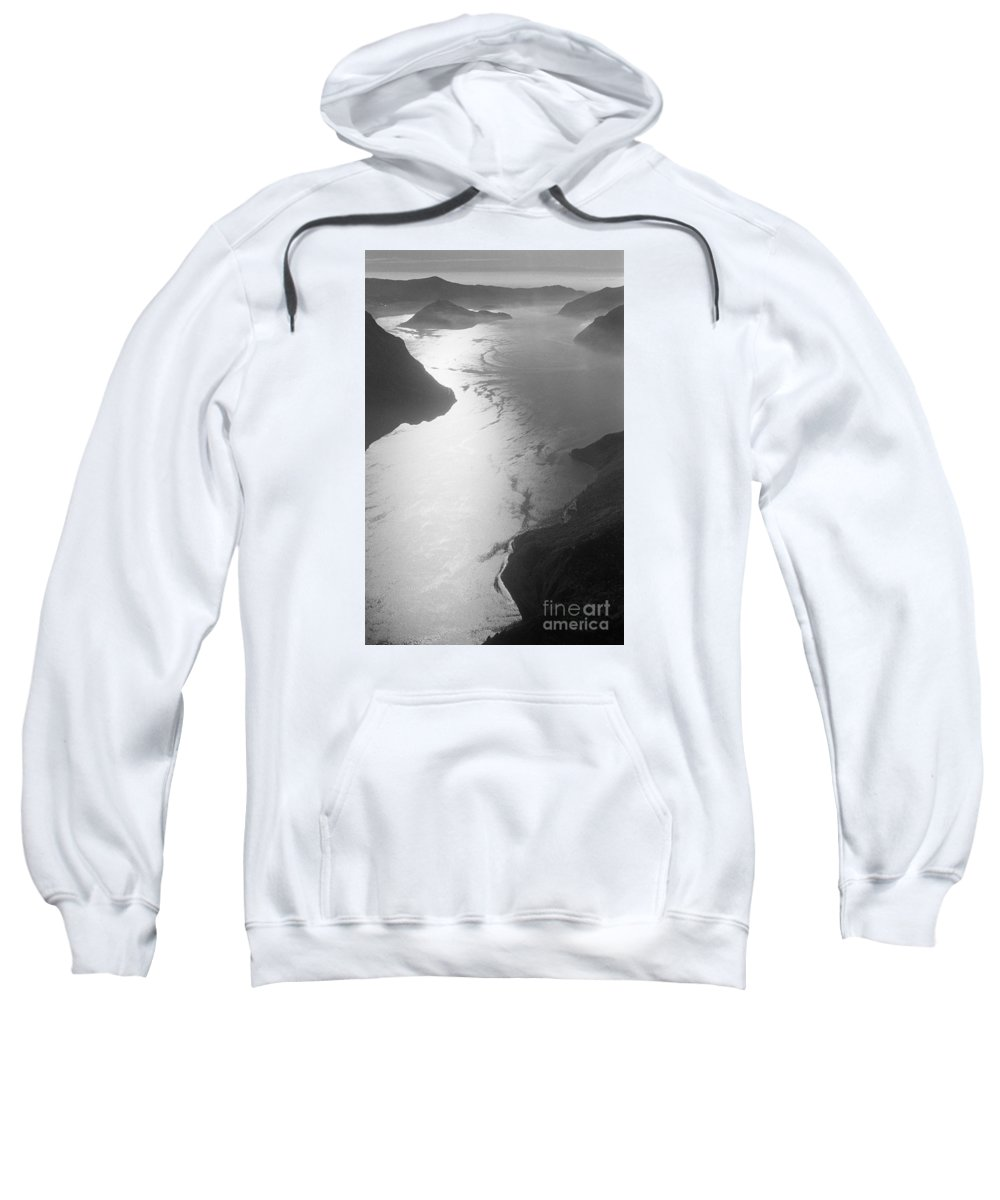 Iseo Sweatshirt featuring the photograph Fog Over The Iseo by Riccardo Mottola