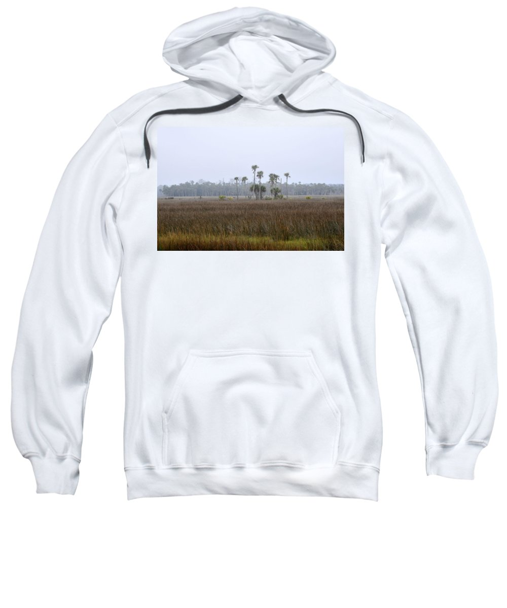 Florida Sweatshirt featuring the photograph Foggy Morning by David Lee Thompson