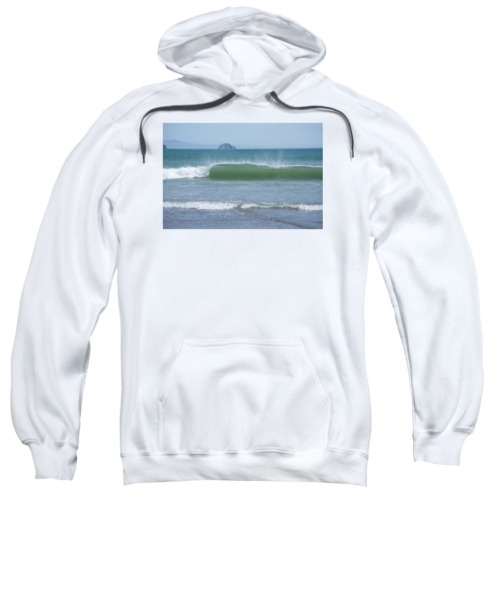 Adria Trail Sweatshirt featuring the photograph Folding Wave by Adria Trail