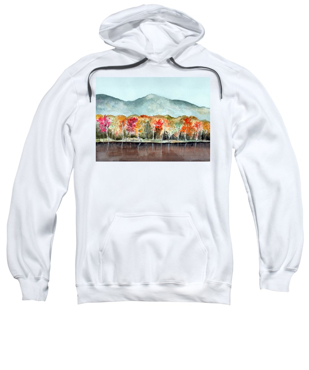 Watercolor Sweatshirt featuring the painting Foliage by Brenda Owen