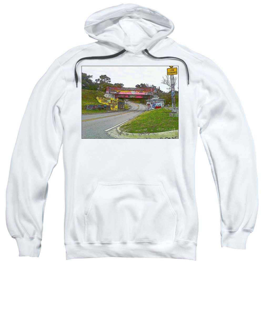 Art Sweatshirt featuring the photograph Follow The Art Road by Michelle Powell