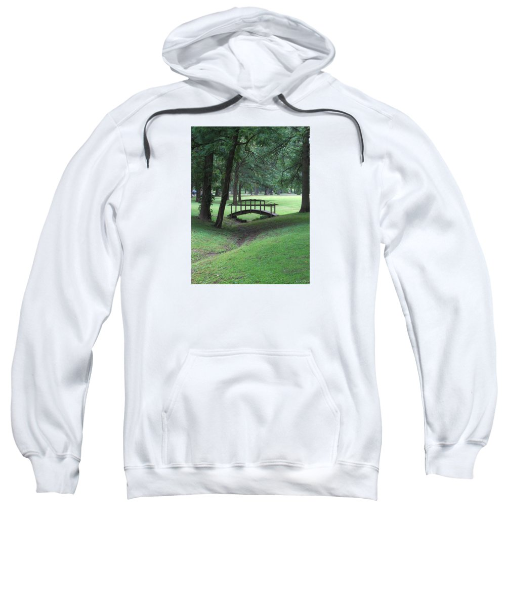 Bridge Sweatshirt featuring the photograph Foot Bridge In The Park by J R Seymour
