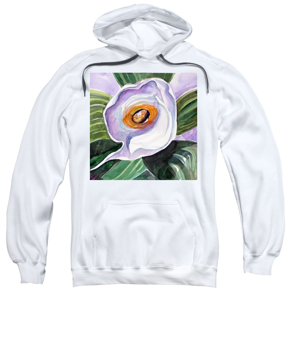 Floral Sweatshirt featuring the painting For Georgia O Keefe by Mindy Newman