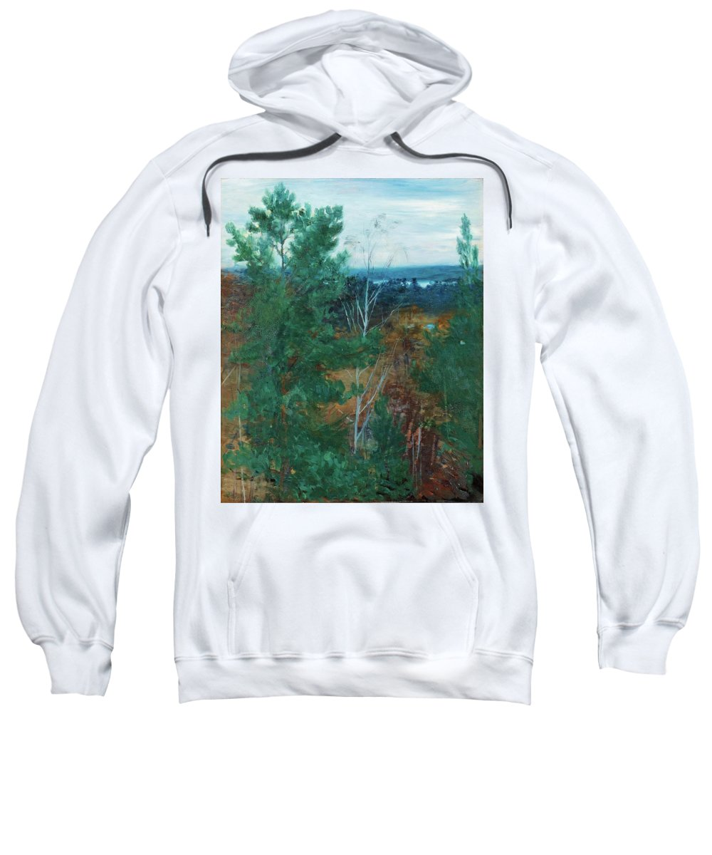 Robert Thegerstr�m Sweatshirt featuring the painting Forest Landscape by MotionAge Designs