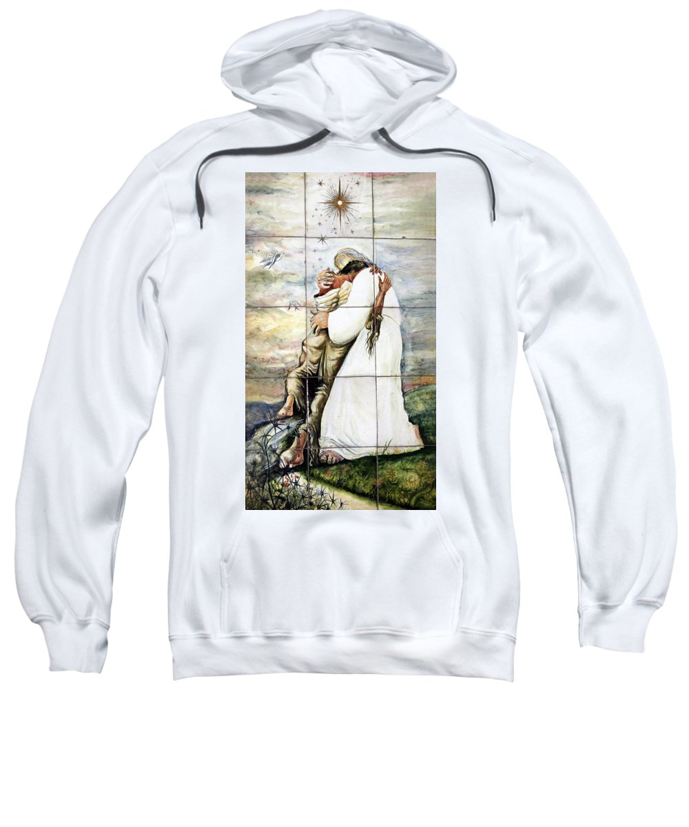 Fogive Sweatshirt featuring the photograph Forgiven by Munir Alawi