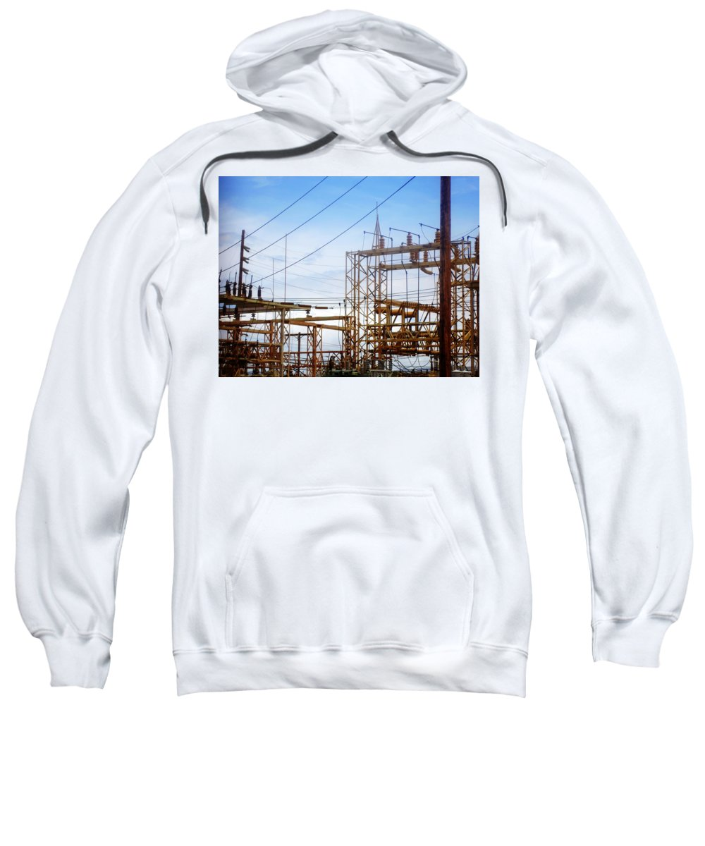 Power Lines Sweatshirt featuring the photograph Fossil Power by Jill Reger