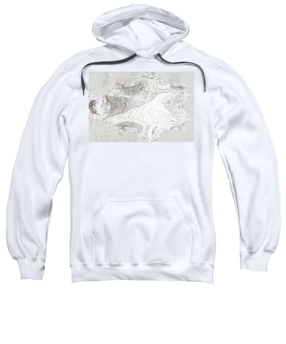 Fossil Horse Water Sand Bone Stone Abstract Wild Visions Sweatshirt featuring the photograph Fossilizing by Andrea Lawrence