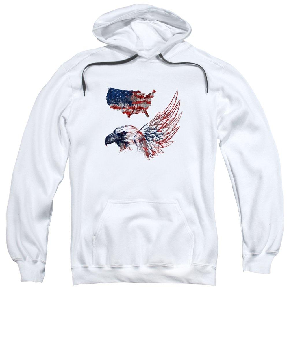 United States Sweatshirt featuring the digital art Fourth Of July by Mark Ashkenazi